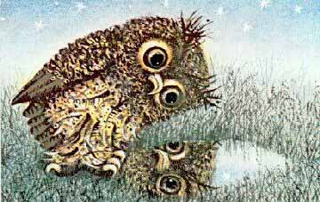 рисунок сова ежик и